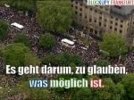 Es geht darum, zu glauben, was möglich ist. Blockupy.